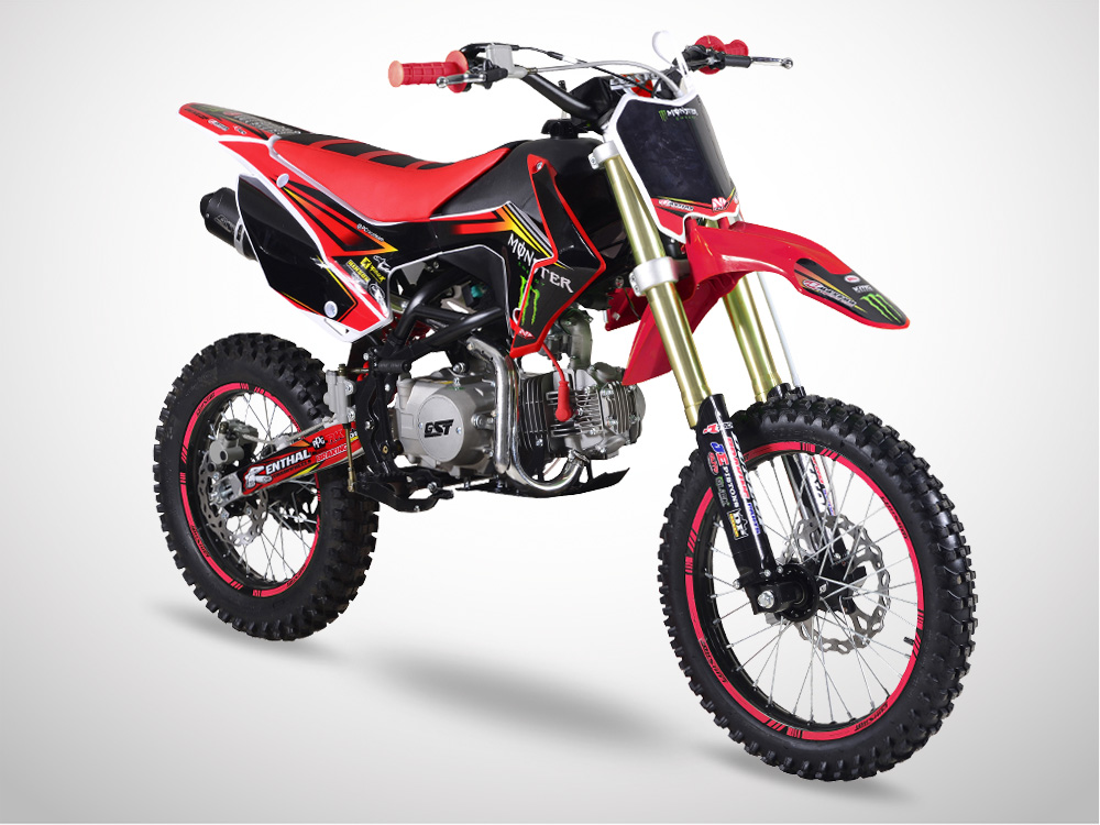 Pit Bike GUNSHOT 125 FX Edition MONSTER 2018 - Profil Gauche - Rouge
