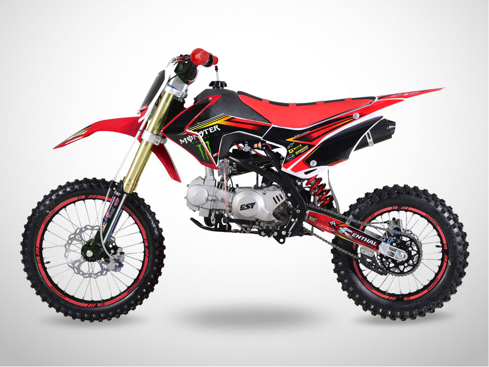 Pit Bike GUNSHOT 125 FX Edition MONSTER 2018 - Droit - Rouge