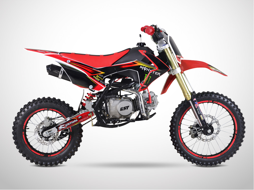 Pit Bike GUNSHOT 140 FX 17/14 Edition MONSTER 2018 - Droit - Rouge