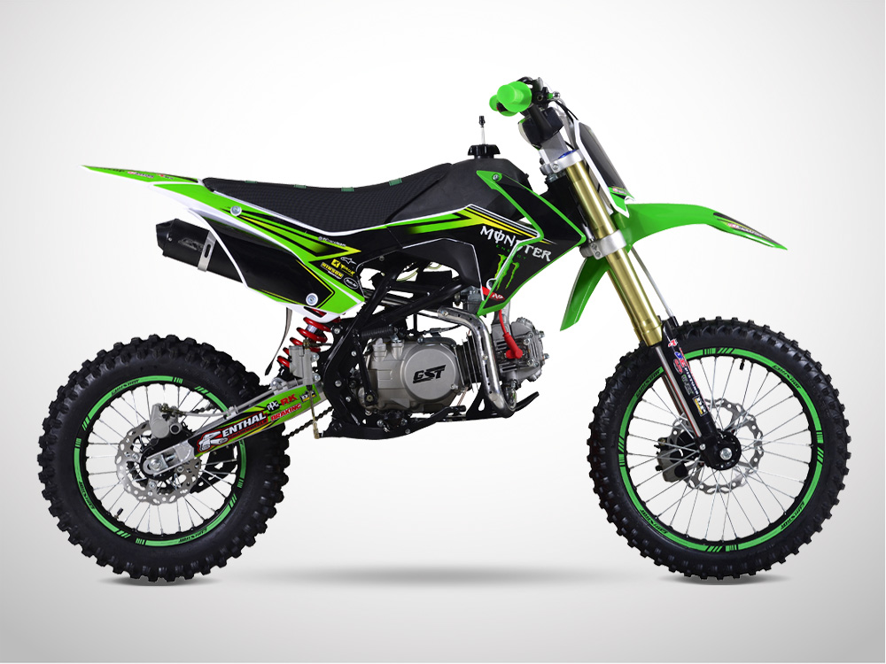 Pit Bike GUNSHOT 140 FX 17/14 Edition MONSTER 2018 - Gauche - Vert