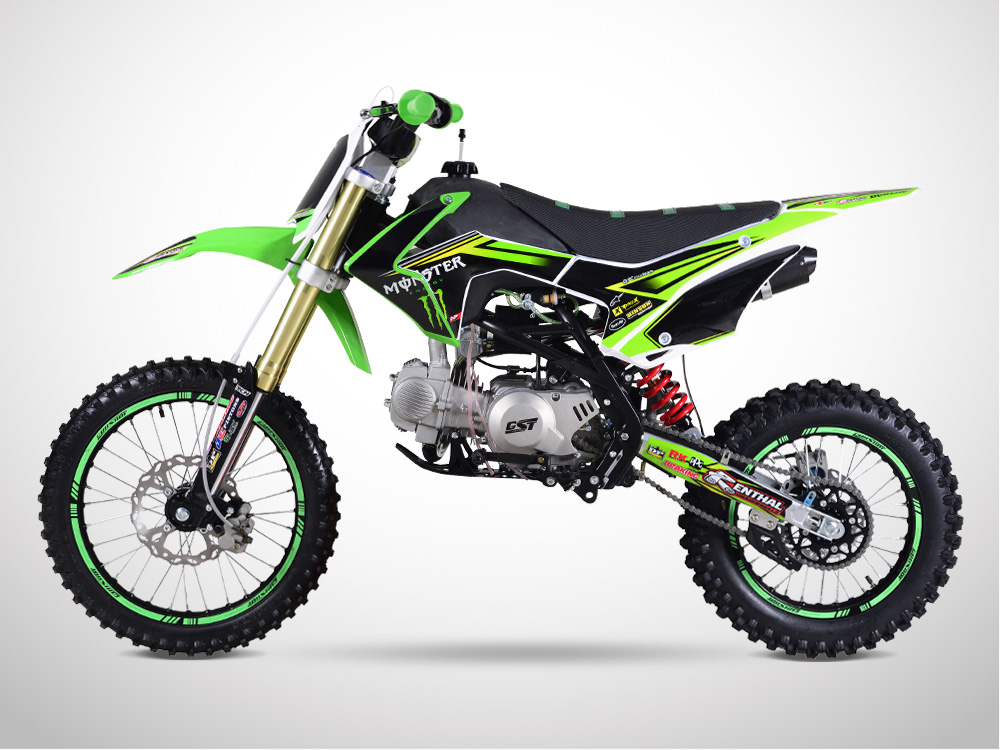 Pit Bike GUNSHOT 140 FX 17/14 Edition MONSTER 2018 - Droit - Vert