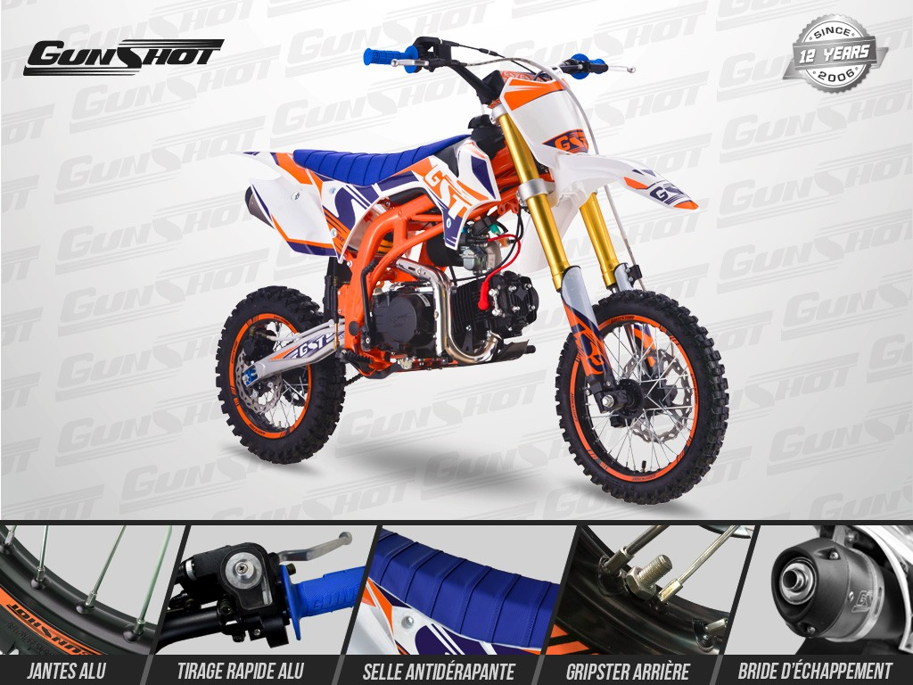 Pit Bike GUNSHOT 140 ONE - Gamme 2019 - YX 140 - CRF110