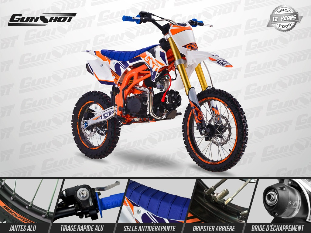 Pit Bike GUNSHOT 140 ONE 17/14 - Gamme 2019 -  YX 140 - CRF110