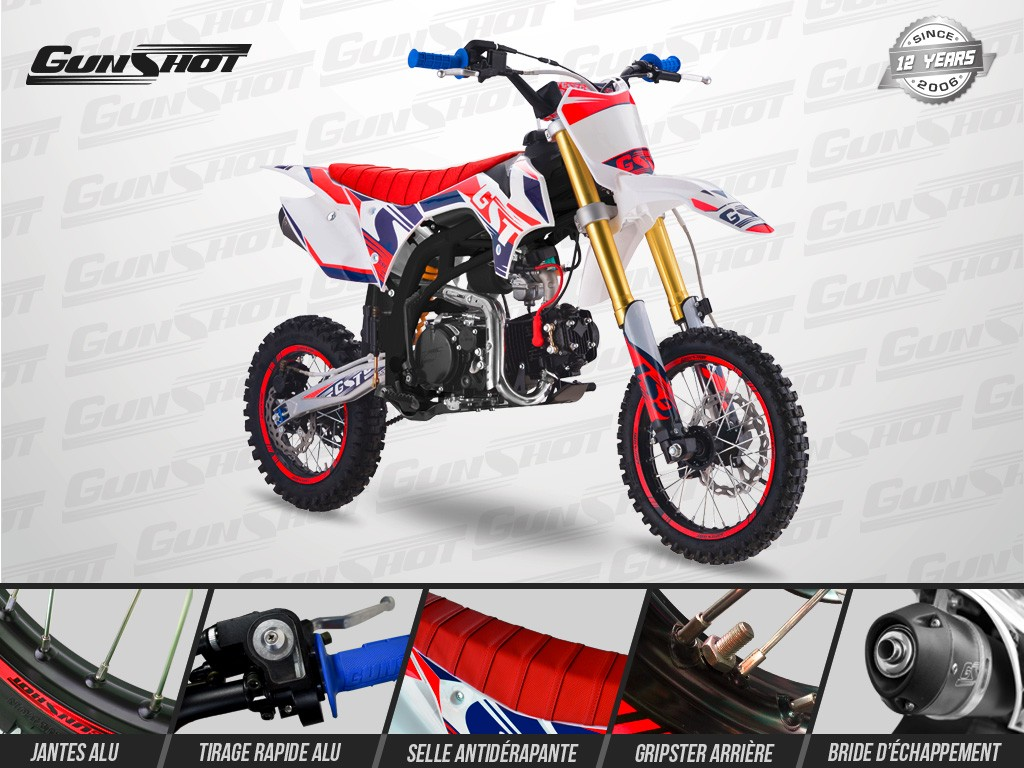 Pit Bike GUNSHOT 125 ONE 2019 - Avant Droit
