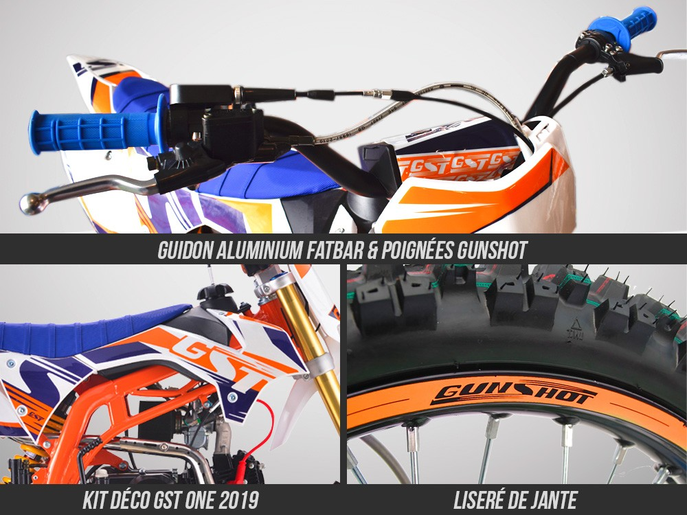 Pit Bike GUNSHOT 125 ONE 2019 - equipements 01